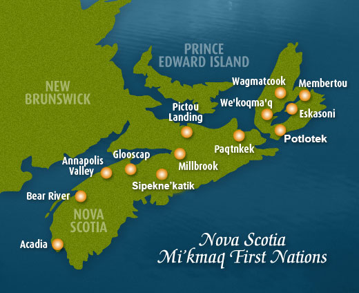 Map of First Nations